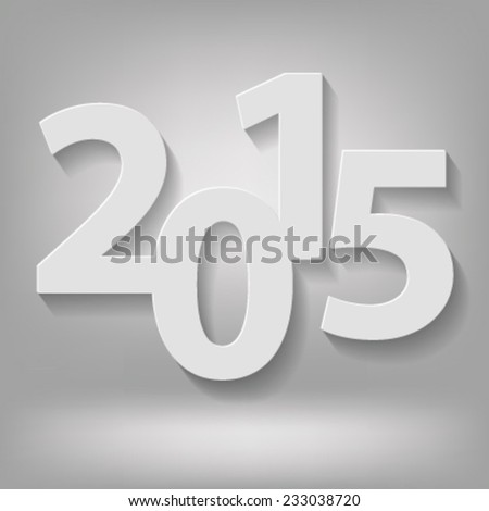 illustration with  new 2015 year on grey background - stock vector