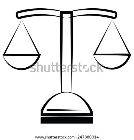illustration  with scale icon on white  background - stock vector