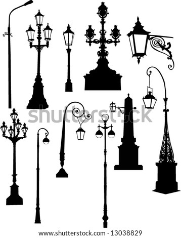 Vintage Streetlights Black Silhouettes Set Vector 604105001 together with Weather Vane Icon Illustration Isolated Vector 548611114 further 206532332884563334 together with Stock Vector Street And Garden L s Vector moreover Street l  silhouette. on lamp post garden signs
