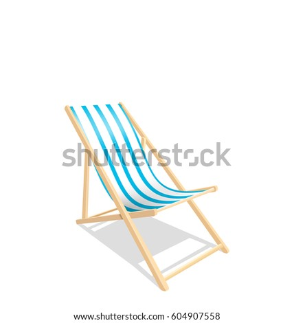 Longue stock images royalty free images vectors for Beach chaise longue