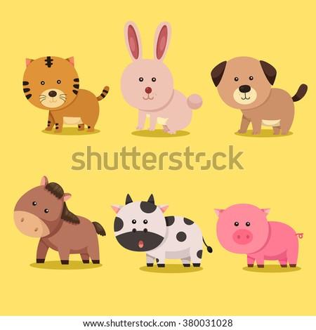 Illustrator of animal zodiac and horoscope - stock vector