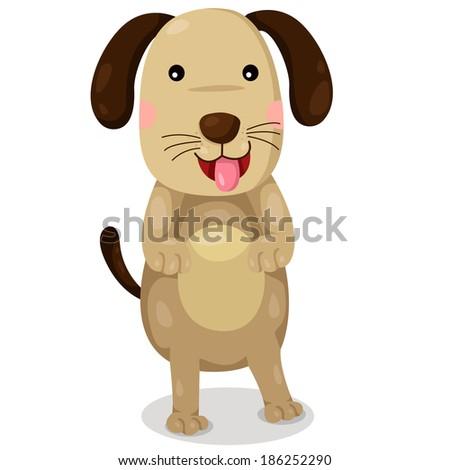 Illustrator of dog cute vector - stock vector