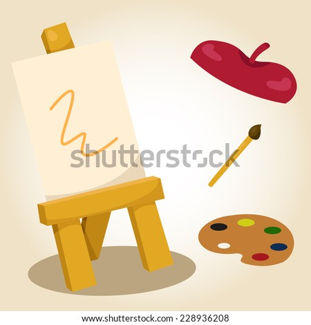 Illustrator of painting - stock vector