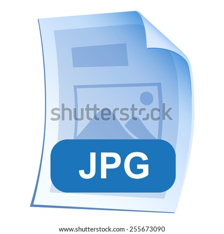 Image File format or file extension JPG icon for interface applications and websites and software isolated on white background. Vector illustration - stock vector