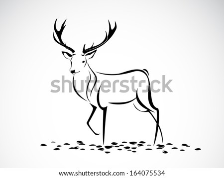 image graphic style of deer isolated on white background - stock vector