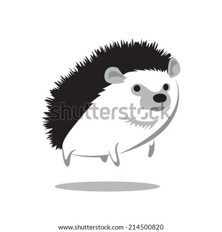 image graphic style of hedgehog isolated on white background - stock vector
