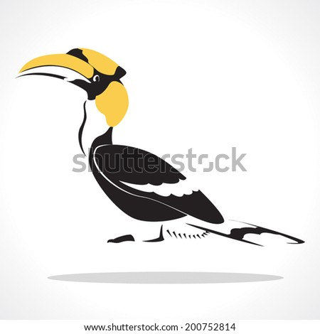 image graphic style of hornbill  isolated on white background - stock vector