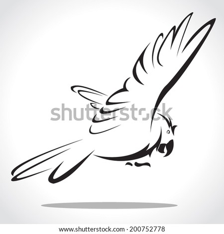 image graphic style of parrot  isolated on white background - stock vector