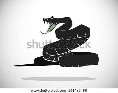 image graphic vector style of snake - stock vector