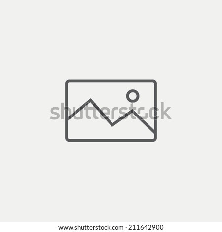Image icon - stock vector