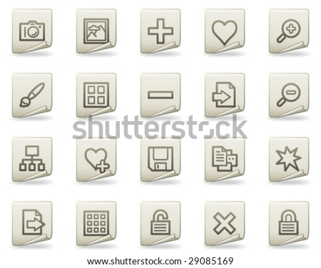 Image library web icons, document series - stock vector