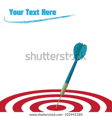 Image of a dart hitting a target isolated on a white background.