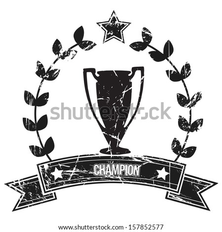 Image of a grunge championship label