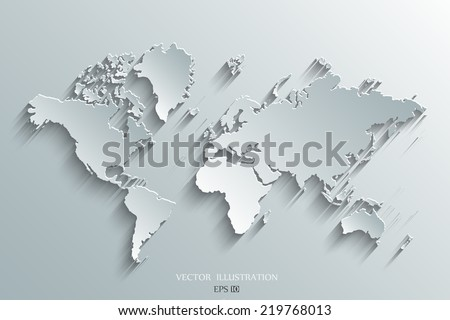 Image vector world map vectores en stock 219768013 shutterstock image of a vector world map gumiabroncs Gallery
