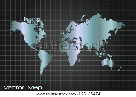 Image of a world map with a grid background.