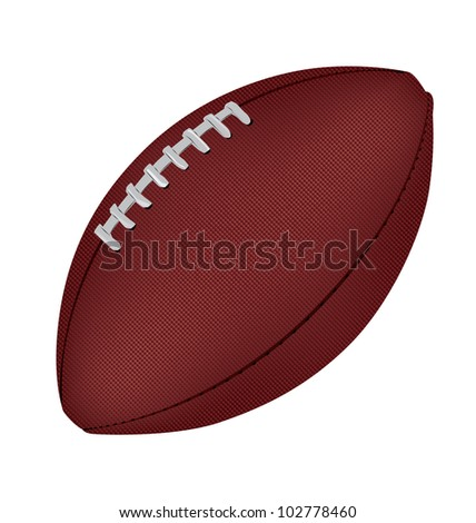 Image of an American Football - stock vector