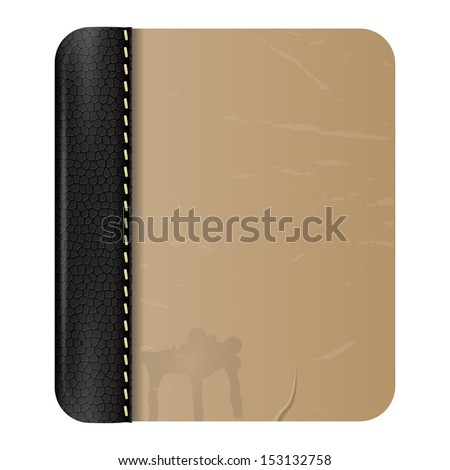 Image of an old notebook - stock vector