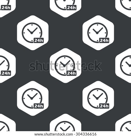 Image Clock Text 24h Hexagon Repeated Stock Vector 304336616