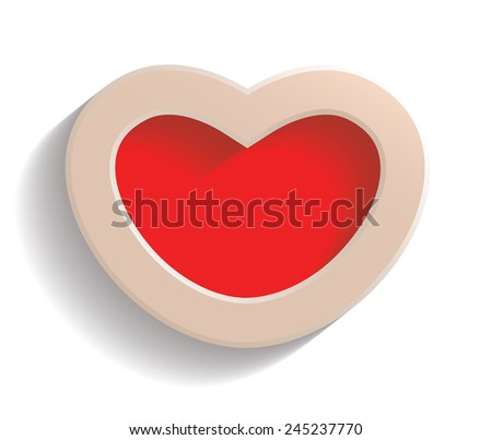 Image of Heart on Valentine's Day. Vector illustration - stock vector