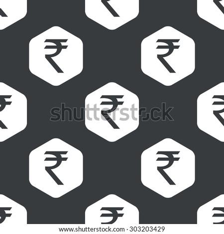 Image Indian Rupee Symbol Hexagon Repeated Stock Vector 303203429