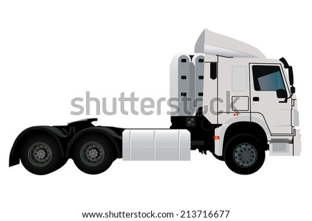 Image of lorry under the white background
