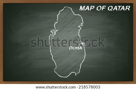 image of map of Qatar. Transparency used.