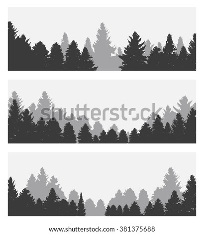 Image of Nature. Tree Silhouette. Vector Illustration. EPS10 - stock vector