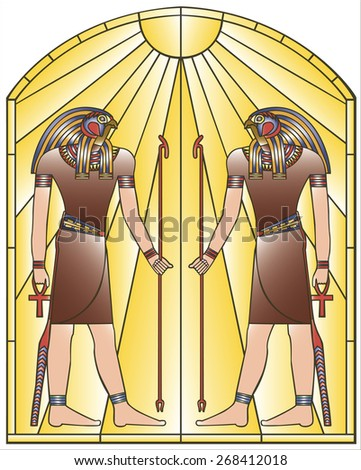 Image of Pharaoh Stained Glass