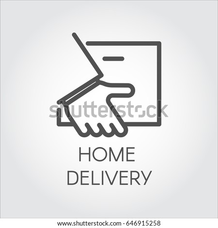 Image Hand Holding Envelope Icon Home Stock Vector 646915258 ...