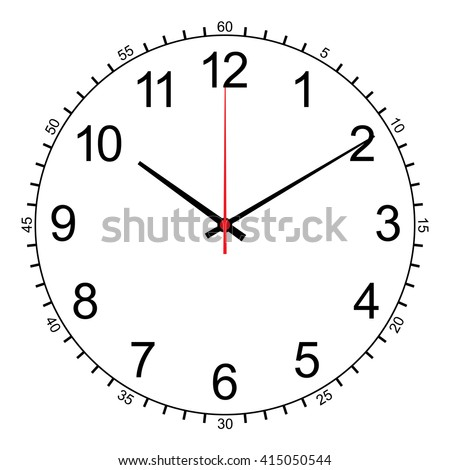 image of wall clock isolated on white vector - stock vector