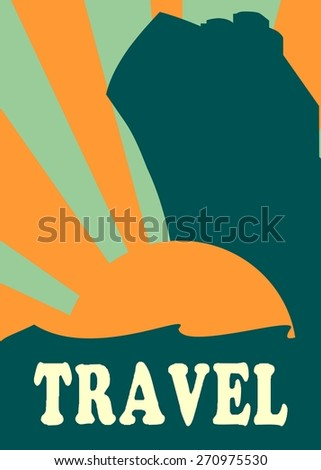 image relative for sea travel presentation - stock vector
