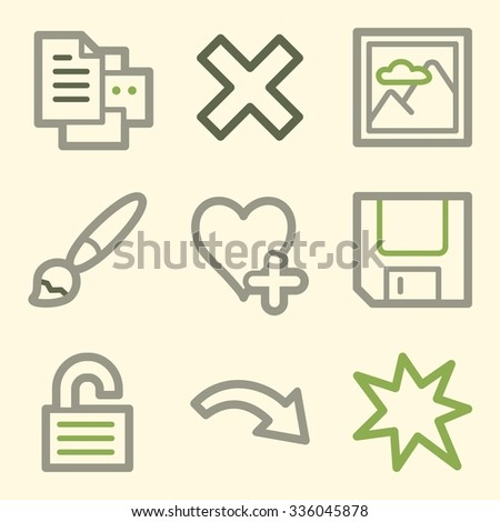 Image viewer web icons