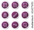 Image viewer web icons set 2, purple stickers series - stock vector