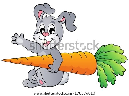 Image with rabbit theme 9 - eps10 vector illustration. - stock vector