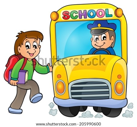 Image with school bus theme 5 - eps10 vector illustration. - stock vector