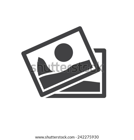Images, modern flat icon - stock vector