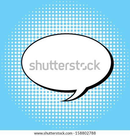 imagination comics icon over blue background vector illustration  - stock vector