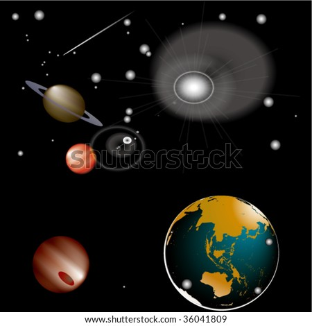 imagination  space - stock vector