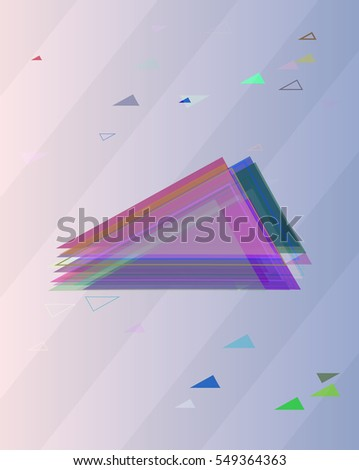 imaginative appearance over mark, representation into creative triangles vector background