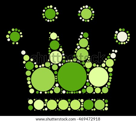 Imperial crown shape vector design by color point