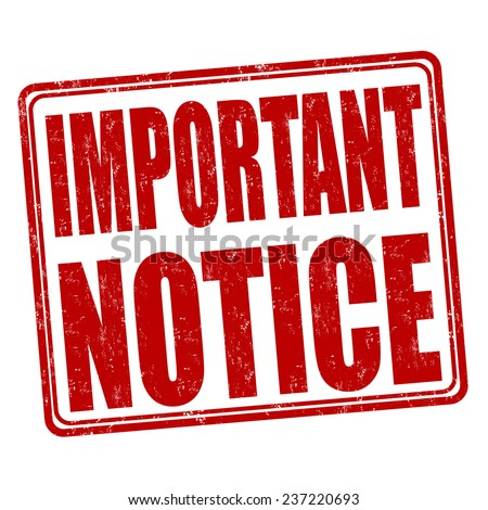 Important Notice Stock Images, Royalty-Free Images ...