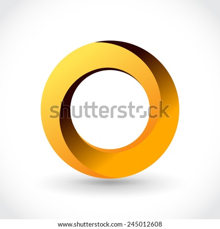 Impossible looped circle vector logo template. Luxury symbol - stock vector