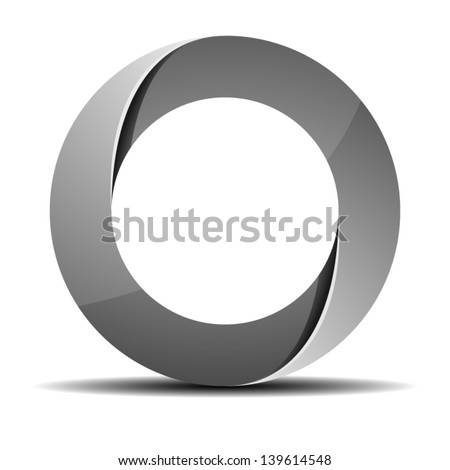 Impossible ring sign - stock vector