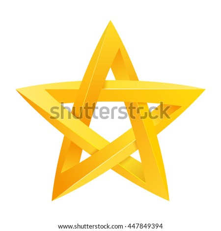 Impossible star 3D for Your project. Icon or logo. Vector Illustration