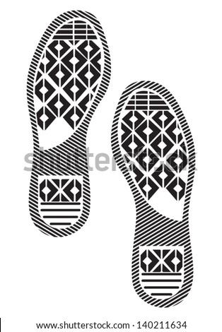 Imprint soles shoes - stock vector