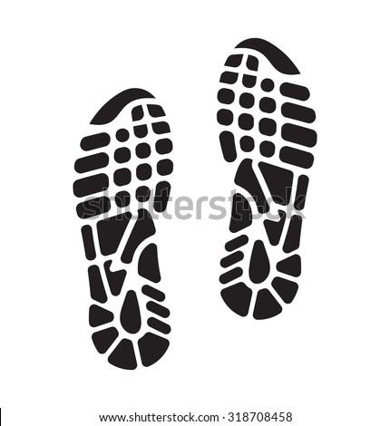 imprint soles shoes - sneakers - stock vector