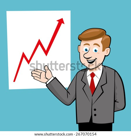 Improving sales; Vector Illustration