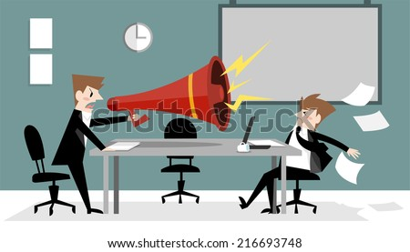 In a meeting A - stock vector