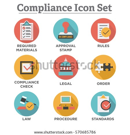 Compliance Icon Set That Shows Company Stock Vector 570685786 - Shutterstock