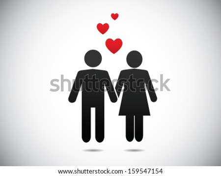 In Love - stock vector